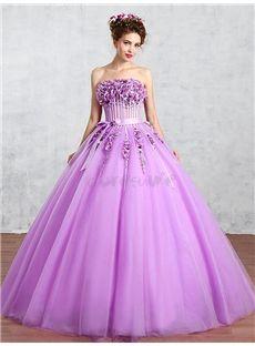 オフショルダー 花びら飾りのロングドレス 結婚式ドレス 披露宴ドレス