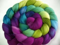Extra soft merino wool roving, handpainted / hand dyed, for handspinning and wet/nuno/dry felting, spinning fiber, 100g/3.5oz
