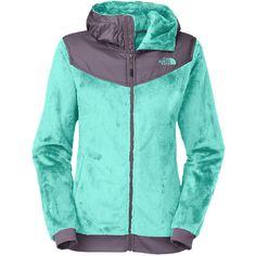 The North Face - Oso Hooded Fleece Jacket - Women's - Mint Blue/Greystone Blue