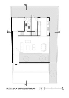 House to See the Sky,Ground Floor Plan