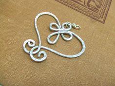 Heart Pendant Aluminum Pendant Wire Wrap by deannewatsonjewelry, $16.95