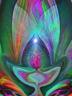 """The flowering of love is meditation."" —Jiddu Krishnamurti (Art: Violet Flame Reiki Decor Abstract Energy Art) ..*"