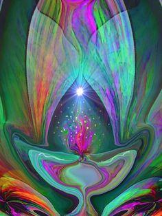 Violet Flame Reiki Decor Abstract Energy Art