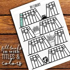 Do you just LOVE all those pretty bullet planner designs but dont have the time to sit down with a ruler and pen to make your own on graph paper? OR are you home schooling your little ones and looking for a fun way to track reading time? GET started planning those reading habits today! What is in your library, what is on your reading bucket list, How often are you hitting the books, and whats your review(or book report)! This kit includes the following pages (4 Total) -My Library -Reading…