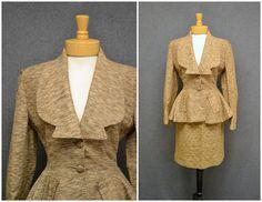 1940s Lilli Ann Tweed Skirt Suit with by BlackbirdAntiquesNC