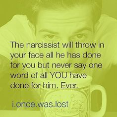 Ever. The Narcissist will never give credit. RP from @narcissist.abuse.recovery…