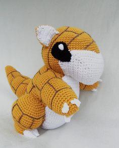 Crochet Sandshrew Pokemon by TheQuaintCuddlefish on Etsy, $70.00
