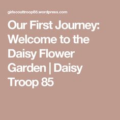 Our First Journey: Welcome to the Daisy Flower Garden   Daisy Troop 85