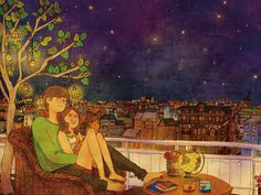 "The illustrator ""Puuung"" draws true moments of real love. Remember love with Puuung's art books, posters and post cards."