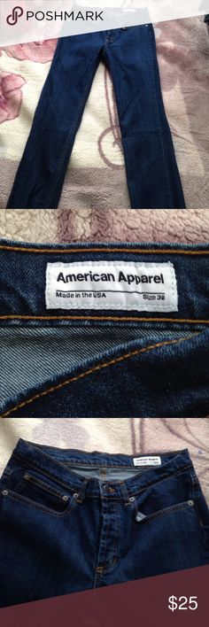 ⭐️ American apparel high waist jeans Size 30 in perfect condition, Inseam 33 inches, rise 9 inches. (Selling because I'm too short for these jeans) American Apparel Jeans Skinny