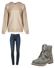 """"""""""" by melodyleighmitchell on Polyvore featuring Frame Denim and Timberland"""