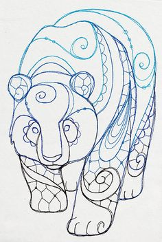 Urban Threads: Unique and Awesome Embroidery Designs Animal Coloring Pages, Colouring Pages, Adult Coloring Pages, Coloring Books, Mandala Art, Mandalas Drawing, Mandala Meditation, Embroidery Designs, Hand Embroidery