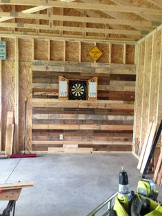 Every dart board needs a cool wall behind it.