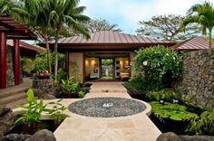 modern resort entrance landscape architecture - Google Search