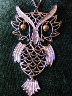 MOD 70's movement OWL Pendant by 31North on Etsy, $17.00