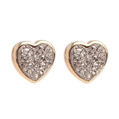 Marcia Moran Heart Shaped Studs, $94, now featured on Fab.