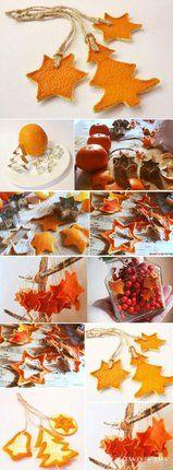 Nechte se inspirovat a vykrojte si z pomeranče pěkné ozdoby.