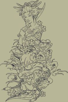 disegno geisha - Cerca con Google