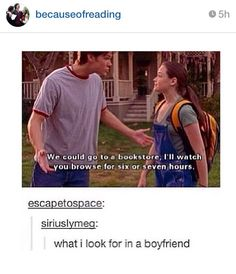 What I look for in a boyfriend and the fact that it's Jared as well, my gosh