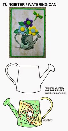 Irisvouwen: Tuingieter / Watering Can
