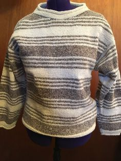 Women's Indigenous Designs Sweater Size Small Organic Cotton And Wool #Indigenous #TurtleneckMock