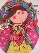 Virgencita Plis Lady Guadalupe Praying Hands Heart Religious Catholic Bracelet last chance to place your bid currently @ $3.48