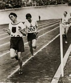Women's 800m - 1928 Olympic Games with Lina Radke ( Germany ) 1st , Hitomi ( Japan ) & Gentzel ( Sweden ) 3rd _ there were only 5 events total for women & just 2 individual running events , a 100m & the 800m !