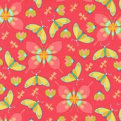 All The Wee Beasts - Coral Fabric - Shop for it at www.valliandkim.com