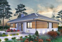 Zdjęcie projektu Kwadra - murowana – ceramika KRD2758 House Design Pictures, Model House Plan, Bungalow House Plans, Design Case, Home Fashion, Home Interior Design, Gazebo, Outdoor Structures, How To Plan