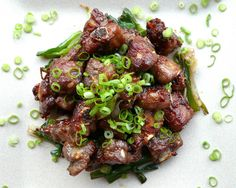Vietnamese Caramelized Pork Riblets (Suon Heo Rim) (Yields 2 Entrée Portions) 2 lbs pork ribs, cut 1-inch thick crosswise by butcher 2 shal...