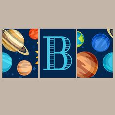 67 ideas for bedroom boys space wall art Boy Wall Art, Canvas Wall Art, Boys Room Decor, Boy Room, Solar System Room, Galaxy Nursery, Outer Space Bedroom, Floral Bedroom, Space Boy