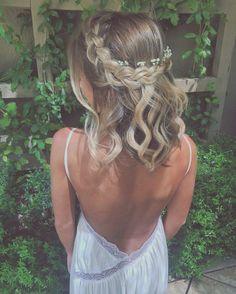 Corona de trenzas para cabello corto