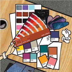 A cartela de cores da coleção está tão moderna, mas ao mesmo tempo tão sofisticada, encantada!