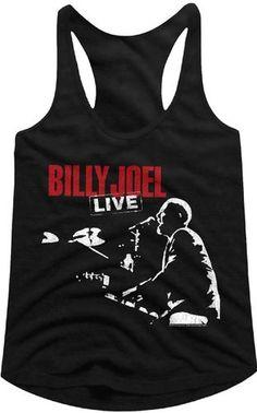 a1a171606 Billy Joel Women's Tank Top T-shirt - 12 Gardens Live Album Cover Art. Black  Shirt