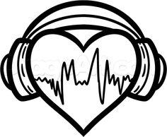 best how to draw heart ideas easy hand drawings Music Drawings, Art Drawings Sketches, Cool Drawings, Pencil Drawings, Easy Graffiti Drawings, Easy Hand Drawings, Headphones Tattoo, How To Draw Headphones, Tatuagem Diy