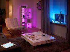 sfeerimpressie, Phillips, friends of HUE, starter pack, Bloom - Inspiratie voor je woonkamer: Designlampen - Wonen Voor Mannen