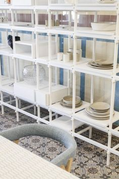 For this year's Interieur 2014 design show – held in the Belgian city of Kortrijk – instead of exhibiting a fair booth, MAD… Living Room Shelves, Design Show, Minimalist Shelving, Shelving Ideas, Live, Storage, Mad, Home Decor, Purse Storage