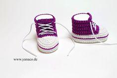 Babyschuhe, Mädchen,kardinal,Sneaker,10,2cm von Yanaco - Babyschuhe und Mützen auf DaWanda.com