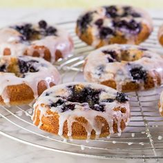Honey Blue Blueberry Donuts, Gluten Free. All dressed up & ready to go.