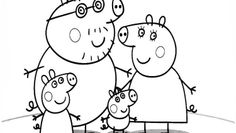 Peppa Pig colouring pages. Find here free printable Peppa Pig coloring pages for kids. Donwload and color Peppa, piggy, George, Mummy Pig, Daddy Pig and Peppa Pig drawing pictures Peppa Pig Coloring Pages, Family Coloring Pages, Cartoon Coloring Pages, Animal Coloring Pages, Coloring Pages To Print, Printable Coloring, Coloring Pages For Kids, Coloring Books, Peppa Pig Cartoon