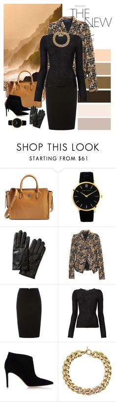"""Monday at work"" by dezaval ❤ liked on Polyvore featuring Seed Design, Tory Burch, Larsson & Jennings, Banana Republic, Haider Ackermann, Pied a Terre, Denis Colomb, Gianvito Rossi and Michael Kors"