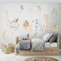 Lovely nursery prints and reposicionable fabric wall decals made with love di AidaZamora Baby Bedroom, Nursery Room, Kids Bedroom, Nursery Fabric, Room Baby, Nursery Prints, Wall Stickers Baby Boy, Nursery Wall Stickers, Childrens Wall Decals