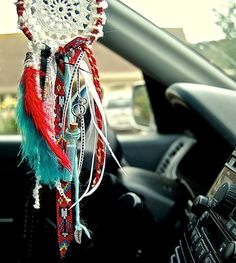 Mini scented car dreamcatcher Indian style by TheLittleBigShop