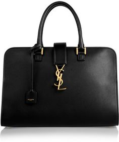 Yves Saint Laurent Monogramme Cabas leather tote is the perfect bag for me in the real world!