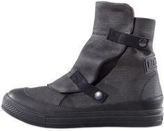 DEMOBAZA > Grey Moon Canvas Low Boots