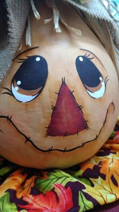 Check out this item in my Etsy shop https://www.etsy.com/listing/539611610/hand-painted-scarecrow-painted-gourd