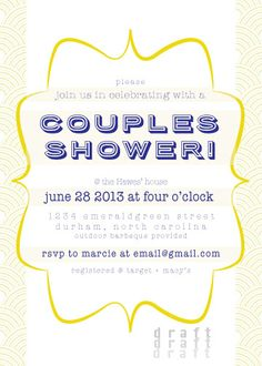 Delineate Your Dwelling: Couple's Wedding shower invitation Couples Wedding Shower Invitations, Couple Shower, Creative Crafts, Tablescapes, Rsvp, Wedding Showers, Etsy Shop, Messages, Board