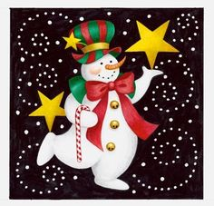 Carnival Snowman 1 by Stephanie Stouffer   Ruth Levison Design
