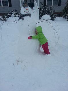 Amie Harpine, Broadway  Luci loves her snowman #WHSVsnow