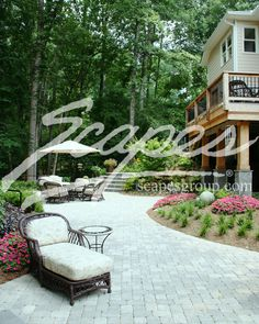 Deck and Paver Patio - This could be my back yard!